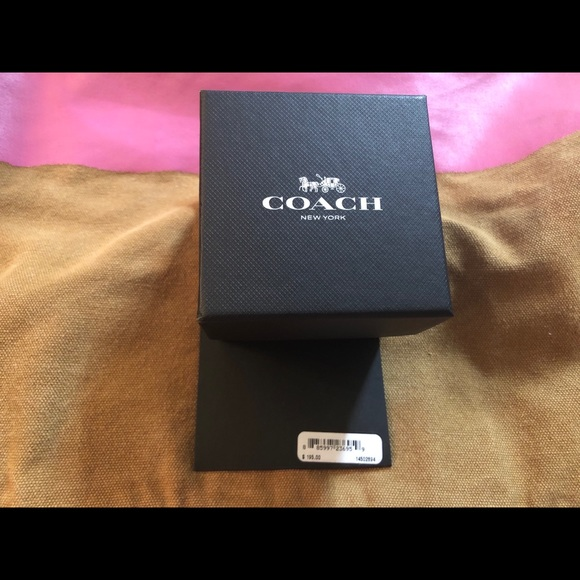 Coach Watch-NWT silver band with diamonds on head